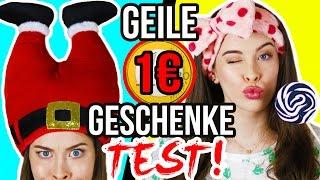 GEILE 1€ SHOP GESCHENKE im LIVE TEST! LAST MINUTE Weihnachts-Ideen 1 Euro HAUL! thumbnail