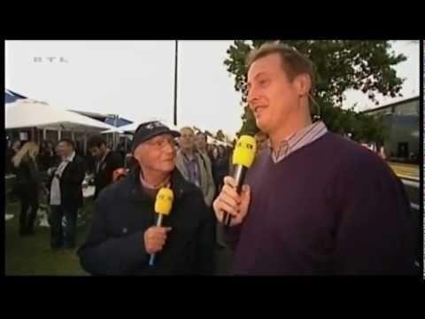 Eddie Jordan offers Niki Lauda a job as BBC expert
