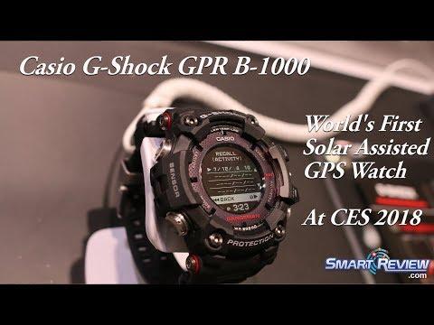 CES 2018 | Casio Rangeman G-Shock GPS Solar Watch GPR B-1000 | World's First Solar GPS Watch