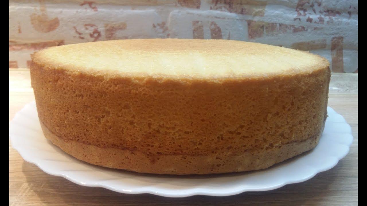 БИСКВИТ, который ПОЛУЧАЕТСЯ ВСЕГДА | Очень Вкусный Рецепт Приготовления Бисквита |Sponge Cake Recipe