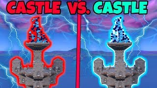 CASTLE vs. CASTLE Battle in Fortnite!