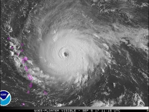 Visions: Cat 5 Irma & growing? + Other Storms + White Explosion Cloud