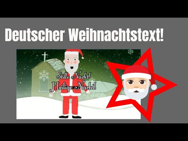 Weihnachtsmann singt