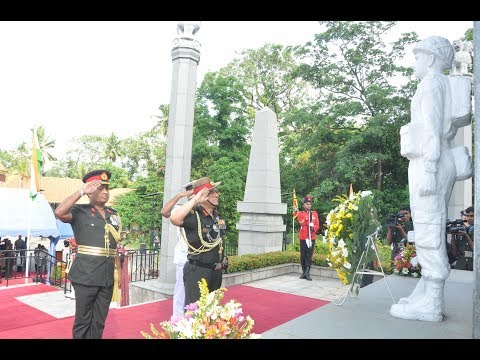 Indian Army Chief in Solemn Ceremony Pays Floral Tributes to Fallen Jawans at IPKF Memorial in Batta