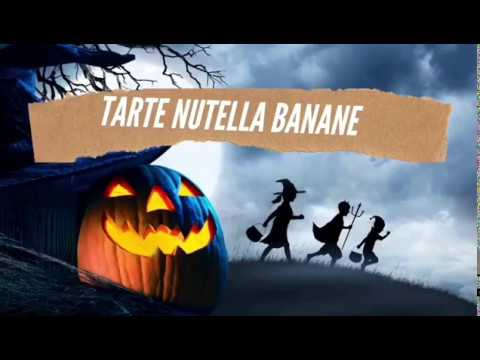 recette-tarte-au-nutella-banane-d'halloween