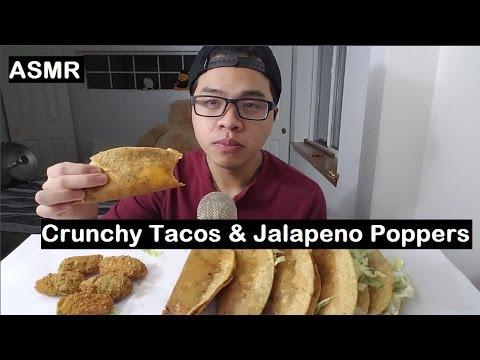 ASMR: CRUNCHY Tacos & Jalapeno Poppers | Soft Whispering | Mukbang/Eating Show | JaySMR