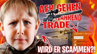 Ich gehe AFK während ich EISBISS (SELTENSTE WAFFE) Trade !!! 😱 SCAMMT ER? - Fortnite Rette die Welt