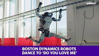 Robots from Boston Dynamics dance to 'Do You Love Me'