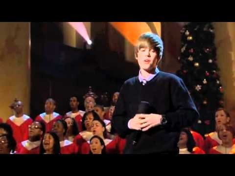 Justin Bieber singing for President Obama Someday at Christmas ...