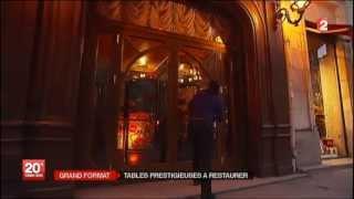 Reportage sur les prestigieux restaurants parisiens. Avril 2013.