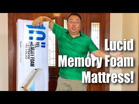 lucid 10 inch gel memory foam bed mattress review with convenient home delivery