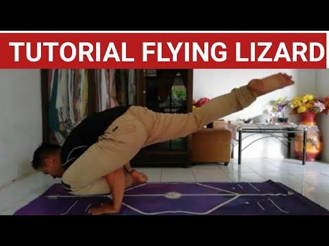 flying lizard pose || Cara flying lizard pose | utthan pristhasana || Tutorial flying lizard