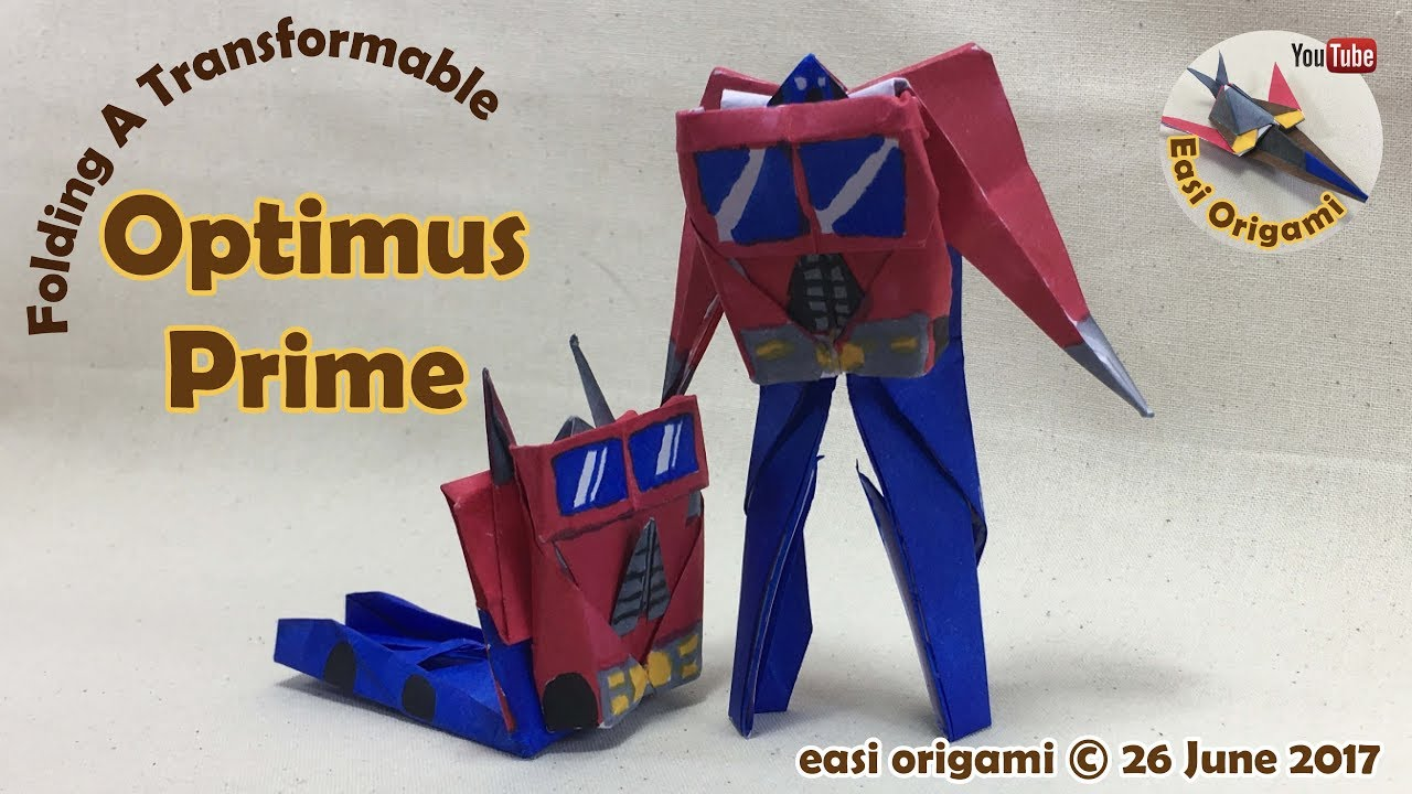 How To Make A Papercraft Origami Transformer Optimus Prime