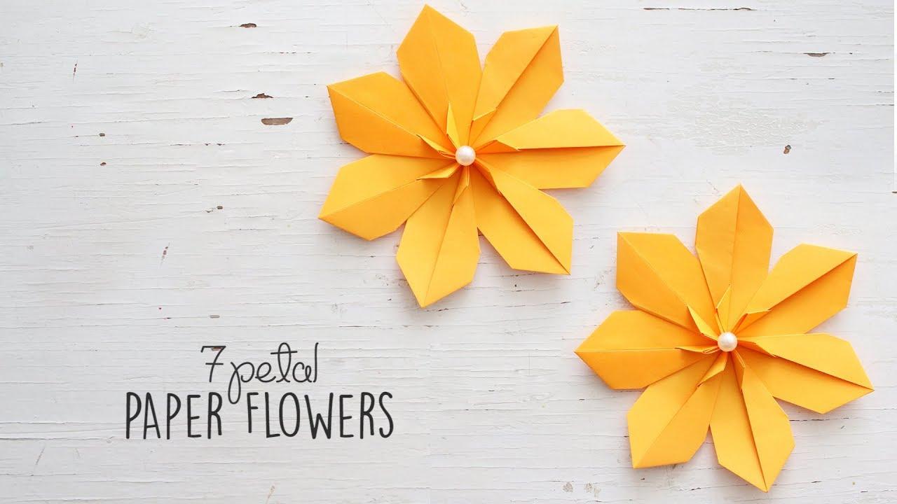 Diy 7 Petal Flowers Youtube
