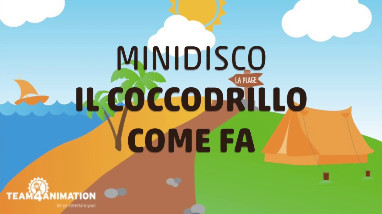 Minidisco with lyrics I Il coccodrillo come fa I Team4Animation