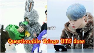 Questionable things BTS (방탄소년단) does