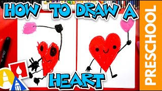 How To Draw A Cขte Valentine's Heart - Preschool