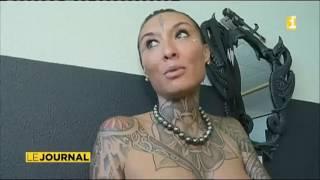 Estelle Anania brigue le titre de plus belle femme tatouée de France