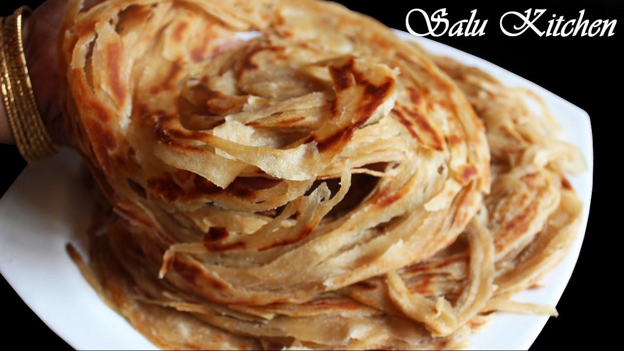 Download Whole Wheat Lachha Paratha / Flaky Layered Parotta