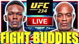 🔴 UFC 234 ADESANYA VS SILVA + VANNATA VS MARIANO LIVE FIGHT REACTION!