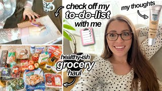 VLOG // Healthy Grocery Haul, Being Productive, Quick Makeup Reviews