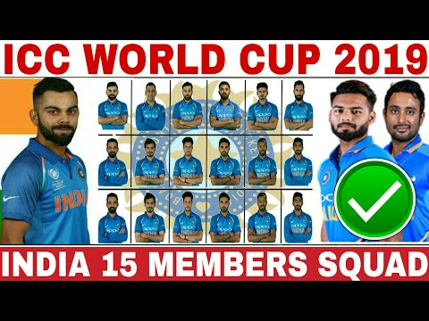 Pick the world cup 2020 team squad list 2019 cricket indian
