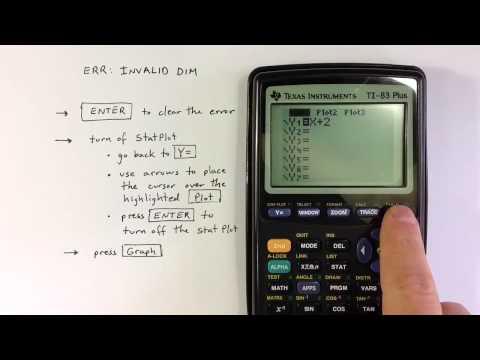 ERR: INVALID DIM on a TI-83 or TI-84