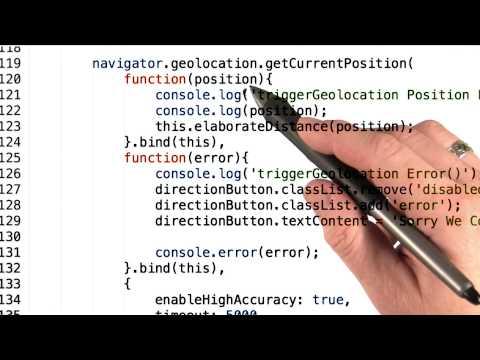 Geolocation API - Mobile Web Development