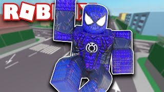 THE AMAZING BLUE SPIDERMAN IN ROBLOX!