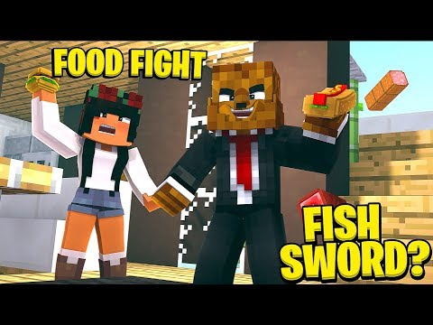 FOOD FIGHT THE MOST FUNNY BRAND NEW MODDED GAMEMODE EVER - MINECRAFT MODDED MINIGAME