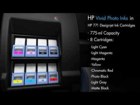 Hp Designjet Z6200 Large Format Photo Printer Youtube