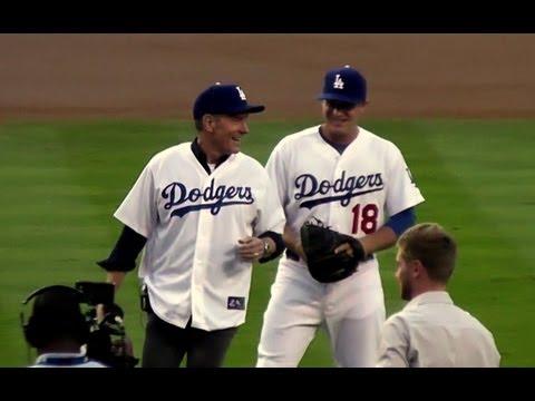 Bryan Cranston of TV's 'Breaking Bad' Throws First Pitch at Dodger Stadium