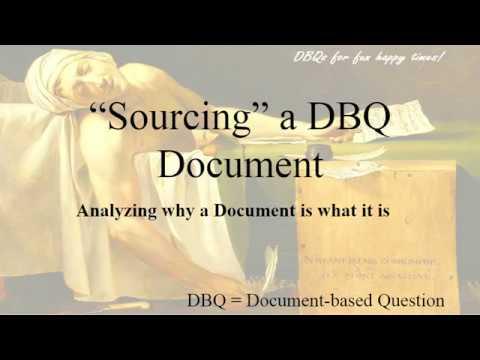 Sourcing a DBQ Document