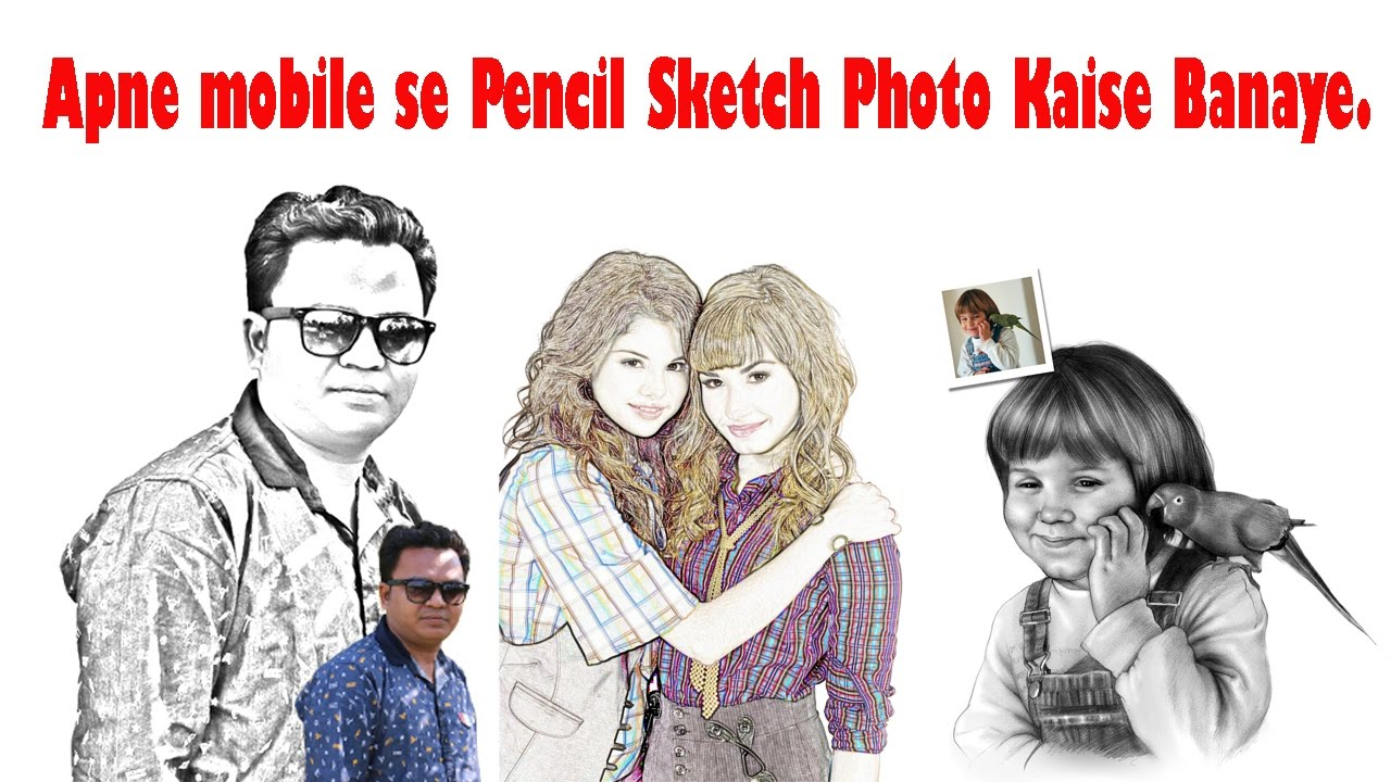 How to create a pencil drawing from a photo in phone line drawing effect online tricks and offers