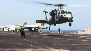 SH-60 Seahawk Takeoff from Aircraft Carrier USS George H.W. Bush