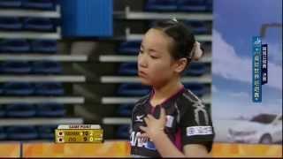 2015年韓國公開賽  女子單打冠軍決賽: 福原愛~伊藤美誠