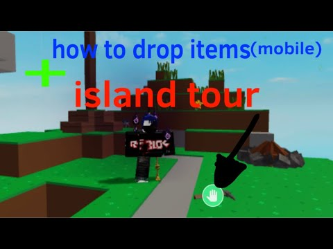 Roblox Skyblock How To Drop Items On Mobile Island Tour Youtube