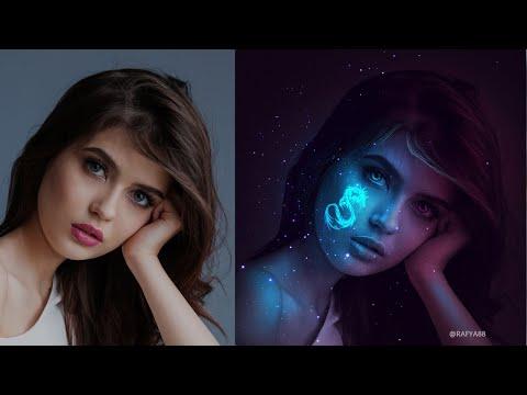 Tattoo Glow In The Dark Portrait Effect Photoshop Tutorial
