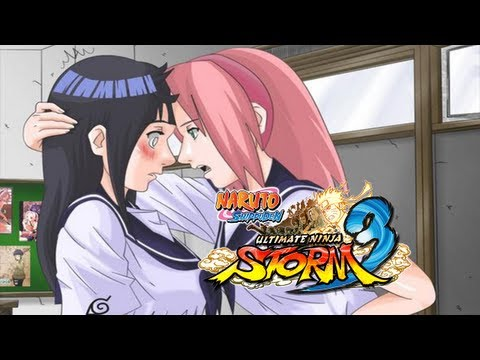 Naruto SUN Storm 3: Sakura (School) VS Hinata (School) (Live Commentary)