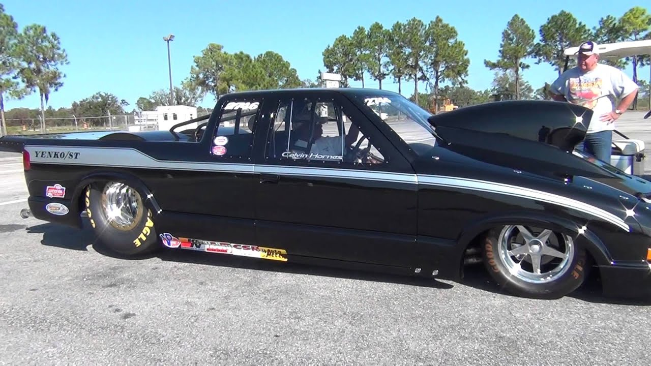 Pro Stock S10 : Bad ass prostock s truck driven by calvin hornes youtube
