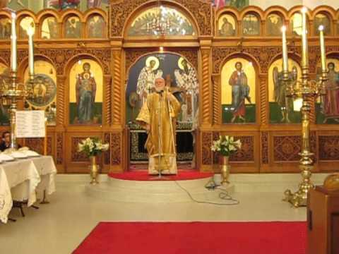 The sermon of His Grace Bishop Ezekiel of Dervis at All Saints Belmore