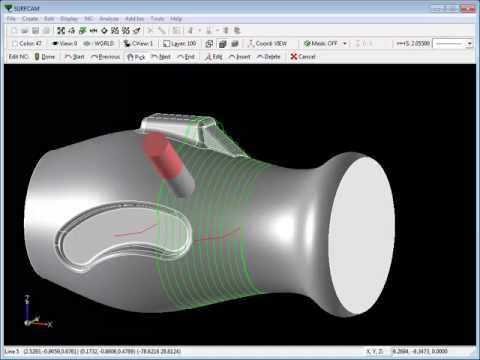 SURFCAM Tutorial - 5-Axis Cut: Spiral Options