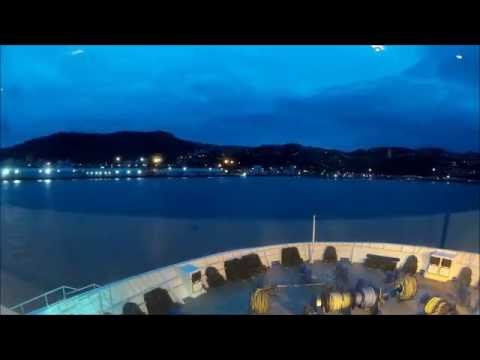 Cook Strait Ferry Timelapse from Picton to Wellington - Interislander