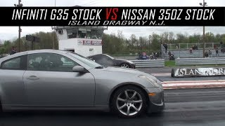 Infiniti G35 stock vs Nissan 350z Stock