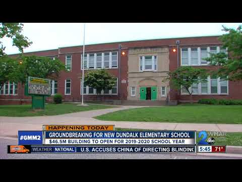 Groundbreaking for construction of new Dundalk Elementary School