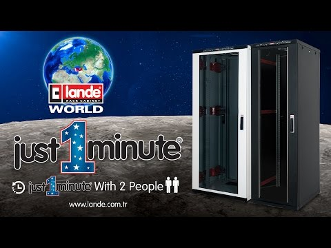 Lande Just 1 Minute 42U 19inch W600xD800mm Cabinet Assembly Video