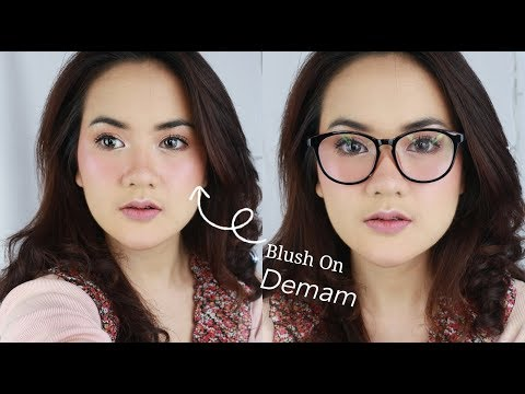 MAKEUP BLUSH ON DEMAM ALA SELEBGRAM DAN HIJABERS on Acne Prone Skin