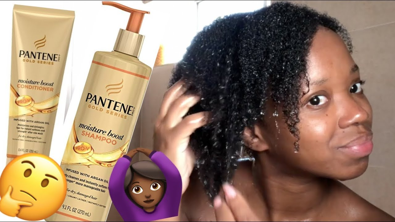 Wash Day Does The Pantene Gold Series Moisturize Natural 4b 4c