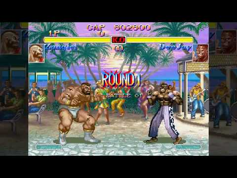 ザンギエフで豪鬼を撃破! - SUPER STREET FIGHTER II X for SEGA SATURN