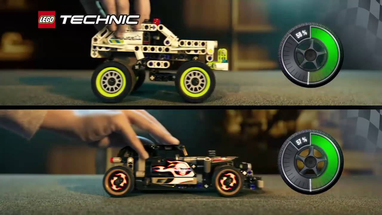 lego technic la voiture du fuyard vs la voiture d. Black Bedroom Furniture Sets. Home Design Ideas